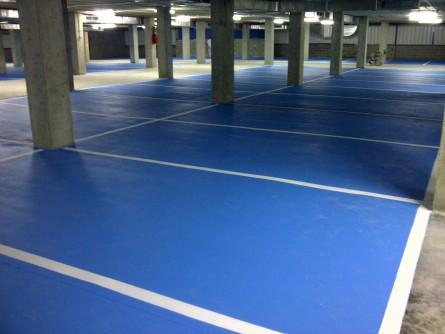 Pavimento Terminado Color Azul